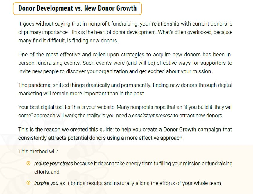 ebook for nonprofits to find new donors